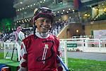 RIYADH,SAUDI ARABIA-FEB 29:Mike Smith, the jockey for Midnight Bisou ,before the Saudi Cup at King Abdulaziz Racetrack on February 29,2020 in Riyadh,Saudi Arabia. Kaz Ishida/Eclipse Sportswire/CSM
