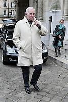 Mathias Moncorge (fils de Jean Gabin) - Obseques de Michele Morgan - Service religieux en l'Èglise Saint-Pierre de Neuilly-sur-Seine le 23 decembre 2016