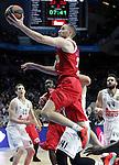Olympimpiacos Piraeus' Matt Lojeski during Euroleague match. January 28,2016. (ALTERPHOTOS/Acero)