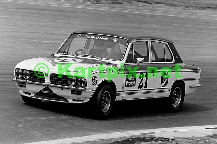 Sports car ace Derek Bell enjoying an outing in the 1976 British Grand Prix touring car support race.