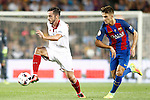 FC Barcelona's Denis Suarez (r) and Sevilla FC's Pablo Sarabia during Supercup of Spain 2nd match.August 17,2016. (ALTERPHOTOS/Acero)