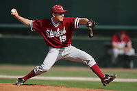 April 3 2010: Dean McArdle of the Stanford Cardinal during game against the UCLA Bruins at UCLA in Los Angeles,CA.  Photo by Larry Goren/Four Seam Images