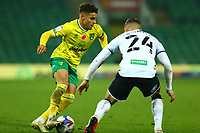 7th November 2020; Carrow Road, Norwich, Norfolk, England, English Football League Championship Football, Norwich versus Swansea City; Max Aaron of Norwich City takes on Jake Bidwell of Swansea City