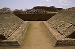 Ball court, Olmec; Monte Alban; Oaxaca; Mexico, Danzante; Zapotec