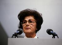 Le congres du NPD, mars 1987 au Palais des congres. Shirley Carr<br /> <br /> Montreal (Qc) CANADA - March 14, 1987 File Photo - - New Democratic Party (NDP) Convention  - Shirley Carr