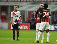 Milano 07-02-2021<br /> Stadio Giuseppe Meazza<br /> Serie A  Tim 2020/21<br /> Milan - Crotone nella foto:  rebbio esultanza                                                         <br /> Antonio Saia Kines Milano