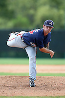GCL Braves pitcher Gardner Adams #37 delivers a pitch during a game against the GCL Pirates at Disney Wide World of Sports on June 25, 2011 in Kissimmee, Florida.  The Pirates defeated the Braves 5-4 in ten innings.  (Mike Janes/Four Seam Images)
