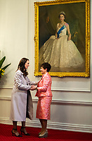 NZ PM Jacinda Ardern (left) with governor-general Dame Patsy Reddy. New Zealand Prime Minister Jacinda Ardern's government is sworn in for a second term at Government House in Wellington, New Zealand on Friday, November 6, 2020. Photo: Dave Lintott / lintottphoto.co.nz