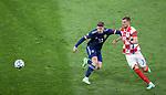 22.06.2021 Croatia v Scotland: Kevin Nisbet and Borna Barisic