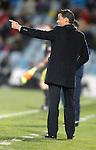 Getafe's coach Luis Garcia during La Liga match. April 16, 2012. (ALTERPHOTOS/Alvaro Hernandez)