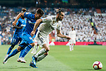 Gareth Bale (R) of Real Madrid is followed by Leandro Cabrera Sasia of Getafe CF during the La Liga 2018-19 match between Real Madrid and Getafe CF at Estadio Santiago Bernabeu on August 19 2018 in Madrid, Spain. Photo by Diego Souto / Power Sport Images