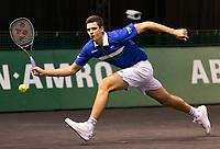 Rotterdam, The Netherlands, 2 march  2021, ABNAMRO World Tennis Tournament, Ahoy, First round match: Huber Hurkacz (POL).<br /> Photo: www.tennisimages.com/henkkoster