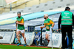 Shane Conway, Kerry and Mickey Boyle, Kerry during the Joe McDonagh Cup Final match between Kerry and Antrim at Croke Park in Dublin.