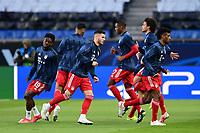 13th April 2021; Parc de Princes, Paris, France; UEFA Champions League football, quarter-final; Paris Saint Germain versus Bayern Munich; Lucas Hernandez (Bayern)  during warm up