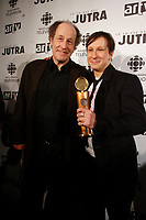 Gabriel Arcand, Jutra-best supporting actor<br /> Paul Ahmarani, Jutra-best actor <br /> both for CONGORAMA<br /> photo : Pierre Roussel (c)  Images Distribution