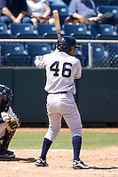 Eugene Emeralds infielder Jorge Minyety #46 at bat during a game against the Everett AquaSox at Everett Memorial Stadium on June 26, 2011 in Everett, WA.  Eugene defeated Everett 14-4.  (Ronnie Allen/Four Seam Images)