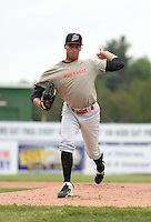 Batavia Muckdogs pitcher Gabriel Castellanos (37) delivers a pitch during a simulated game on June 10, 2014 at Dwyer Stadium in Batavia, New York.  (Mike Janes/Four Seam Images)