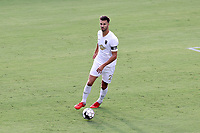 CARY, NC - AUGUST 01: Alex Crognale #21 plays the ball during a game between Birmingham Legion FC and North Carolina FC at Sahlen's Stadium at WakeMed Soccer Park on August 01, 2020 in Cary, North Carolina.