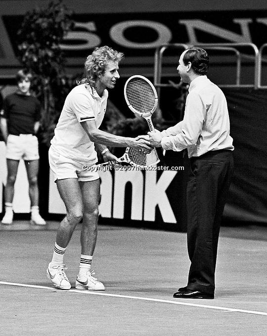 1979, ABN Tennis Toernooi, Vitas Gerulaitis maakt een dolletje met een linesman