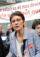 October 10 2017, Paris, France. Demonstration against the Labor Law.<br /> Nathalie Arthaud leader of extrÍme gauche was present. # MANIFESTATION CONTRE LA LOI TRAVAIL