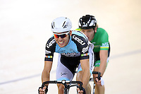 Waikato BOP's Paddy Bevin at the BikeNZ Elite & U19 Track National Championships, Avantidrome, Home of Cycling, Cambridge, New Zealand, Sunday, March 16, 2014. Credit: Dianne Manson