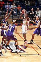 SAN ANTONIO, TX - NOVEMBER 19, 2010: The Texas Christian University Horned Frogs vs. The University of Texas at San Antonio Roadrunners Women's Basketball at the UTSA Convocation Center. (Photo by Jeff Huehn)