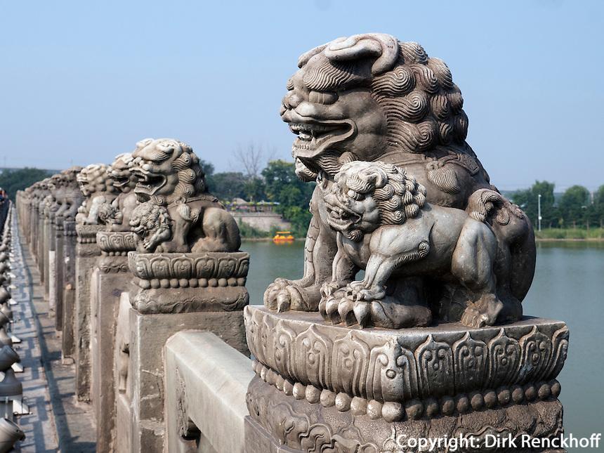 MarcoPolo-Brücke in Peking, China, Asien<br /> MarcoPolo-bridge, Beijing, China, Asia