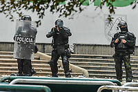 Clashes between police and protestors in Medellin after Colombian president Ivan Duque tried to pass a rule rising taxes that sparked unrest and riots all over the country