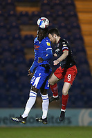 Brendan Sarpong-Wiredu of Colchester United and Jake Taylor of Exeter City during Colchester United vs Exeter City, Sky Bet EFL League 2 Football at the JobServe Community Stadium on 23rd February 2021