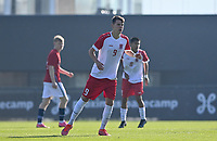 Jayson Videira Pereira of Luxemburg pictured in action during a soccer game between the national teams Under17 Youth teams of  Norway and Luxemburg on day 2 in the Qualifying round in group 3 on saturday 9 th of October 2020  in Tubize , Belgium . PHOTO SPORTPIX   DAVID CATRY