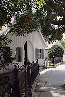 Mystic, Connecticut.The small Fishtown Chapel, built 1889 and moved to Mystic Seaport in 1950