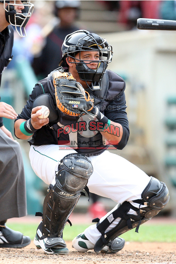 May 15, 2010: Juan Nunez of the Kane County Cougars at Elfstrom Stadium in Geneva, IL. The Cougars are the Midwest League Class A affiliate of the Oakland Athletics. Photo by: Chris Proctor/Four Seam Images