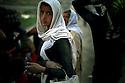 Syria 2014    <br /> August 10, a Yezidi girl near the bridge of Pesh Kabur before entering  Iraq  <br /> Irak 2014 <br /> Jeune fille Yezidi a cote du pont de Pesh Kabur avant de penetrer en Irak