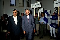Lucien Bouchard et  Jean Campeau<br /> , aout 1994 (date exacte inconnue), sans le compte de Cremazie<br /> <br /> PHOTO :   Agence Quebec Presse