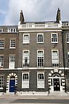 Georgian town house. Bedford Square Bloomsbury London WC1 England UK