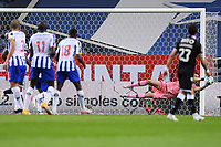 22nd April 2021; Dragao Stadium, Porto, Portugal; Portuguese Championship 2020/2021, FC Porto versus Vitoria de Guimaraes; Agustin Marchesin of FC Porto dives to make a free kick save
