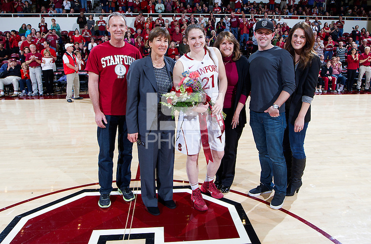 Stanford's Sara James, after Stanford women's basketball  vs Washington State at Maples Pavilion, Stanford, California on March 1, 2014.