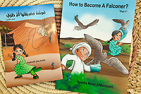 "United Arab Emirates (UAE). Abu Dhabi. Ayesha Al Mansoori is the first woman falconer in the UAE and the only member of the Ladies Falconer Club at Abu Dhabi Falconers Club. She has written a comic book for children to teach them "" How to become a falconer ?"". A comic book or comicbook, also called comic magazine or simply comic, is a publication that consists of comics art in the form of sequential juxtaposed panels that represent individual scenes. Panels are often accompanied by descriptive prose and written narrative, usually, dialog contained in word balloons emblematic of the comics art form. Falcons are birds of prey in the genus Falco, which includes about 40 species. Adult falcons have thin, tapered wings, which enable them to fly at high speed and change direction rapidly. Additionally, they have keen eyesight for detecting food at a distance or during flight, strong feet equipped with talons for grasping or killing prey, and powerful, curved beaks for tearing flesh. Falcons kill with their beaks, using a ""tooth"" on the side of their beaks. The United Arab Emirates (UAE) is a country in Western Asia at the northeast end of the Arabian Peninsula. 20.02.2020  © 2020 Didier Ruef"