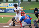 Scenes from the second game of the New York-Penn League semi-final playoffs won 5-2 by the Auburn Doubledays over the Tri-City ValleyCats on September 9, 2012 at Joe Bruno Stadium in Troy, New York.  (Bob Mayberger/Eclipse Sportswire)