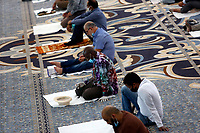 Muslim faithful gather at the Big Mosque of Rome for the reopening and the first prayer. Rome (Italy), June 26th 2020<br /> Foto Samantha Zucchi Insidefoto