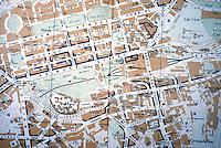 Edinburgh: City Map, 1987. Blue means commercial.