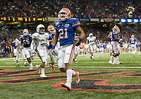 01 January 2010:  Emmanuel Moody of Florida scores touchdown during the game against Cincinnati during Sugar Bowl at the SuperDome in New Orleans, Louisiana.  Florida defeated Cincinnati, 51-24.