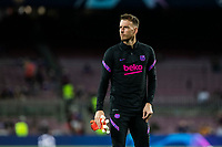 14th September 2021: Nou Camp, Barcelona, Spain: ECL Champions League football, FC Barcelona versus Bayern Munich: 13 Neto FC Barcelona player during the warm up