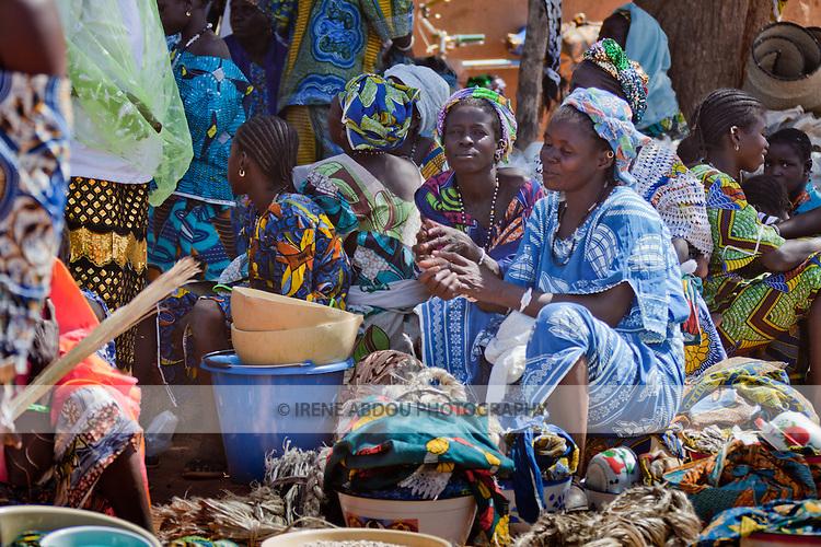 Women in the weekly market of Djibo in northern Burkina Faso.