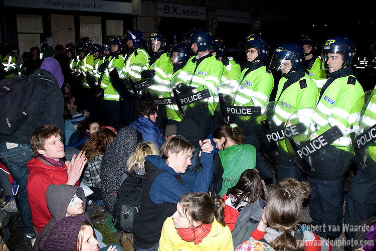 Non-Violent civil disobedience. Climate Camp in the City - G20 - London (©Robert vanWaarden)