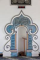 South Africa.  Cape Town, Bo-kaap.  Qibla of the Nurul Huda Mosque.
