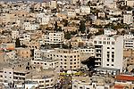 Judea, Hebron Mountain. A view of Hebron from Tel Rumeida