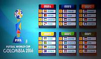 MEDELLÍN -COLOMBIA-19-05-2016. Sorteo oficial de la FIFA Futsal World Cup Colombia 2016 relizado en el centro de convenciones Plaza Mayorn en la ciudad de Medellín. / Official draw of the FIFA Futsal World Cup Colombia 2016 at Plaza Mayor conventions center in Medellin city . Photo: VizzorImage/ León Monsalve /Str