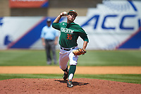 Miami Hurricanes relief pitcher Andrew Cabezas (35) in action against the Wake Forest Demon Deacons in Game Nine of the 2017 ACC Baseball Championship at Louisville Slugger Field on May 26, 2017 in Louisville, Kentucky. The Hurricanes defeated the Demon Deacons 5-2. (Brian Westerholt/Four Seam Images)