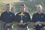 USA Team Photo with Captain Paul Azinger flanked by Phil Mickelson and Jim Furyk for the 37th Ryder Cup at Valhalla Golf Club, Louisville, Kentucky, USA, 17th September 2008 (Photo by Eoin Clarke/GOLFFILE)